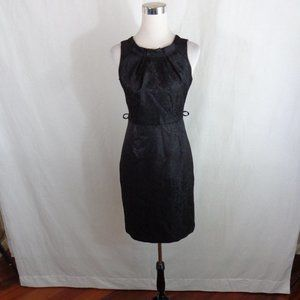 BLACK COCKTAIL SHEATH DRESS SZ 4